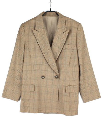 Claude Lema check pattern wool jacket