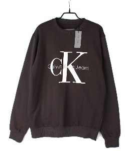 calvin klein sweat shirt (M) (new arrival) (Meteorite Black)