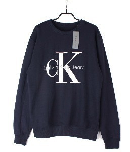 calvin klein sweat shirt (M) (new arrival) (Navy)