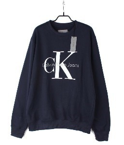 calvin klein sweat shirt (XL) (new arrival) (Navy)