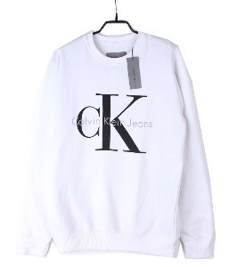 calvin klein sweat shirt (S) (new arrival) (Bright White)