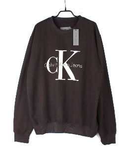calvin klein sweat shirt (XL) (new arrival) (Meteorite Black)