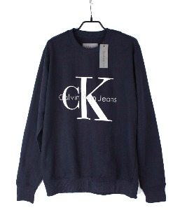 calvin klein sweat shirt (S) (new arrival) (Navy)